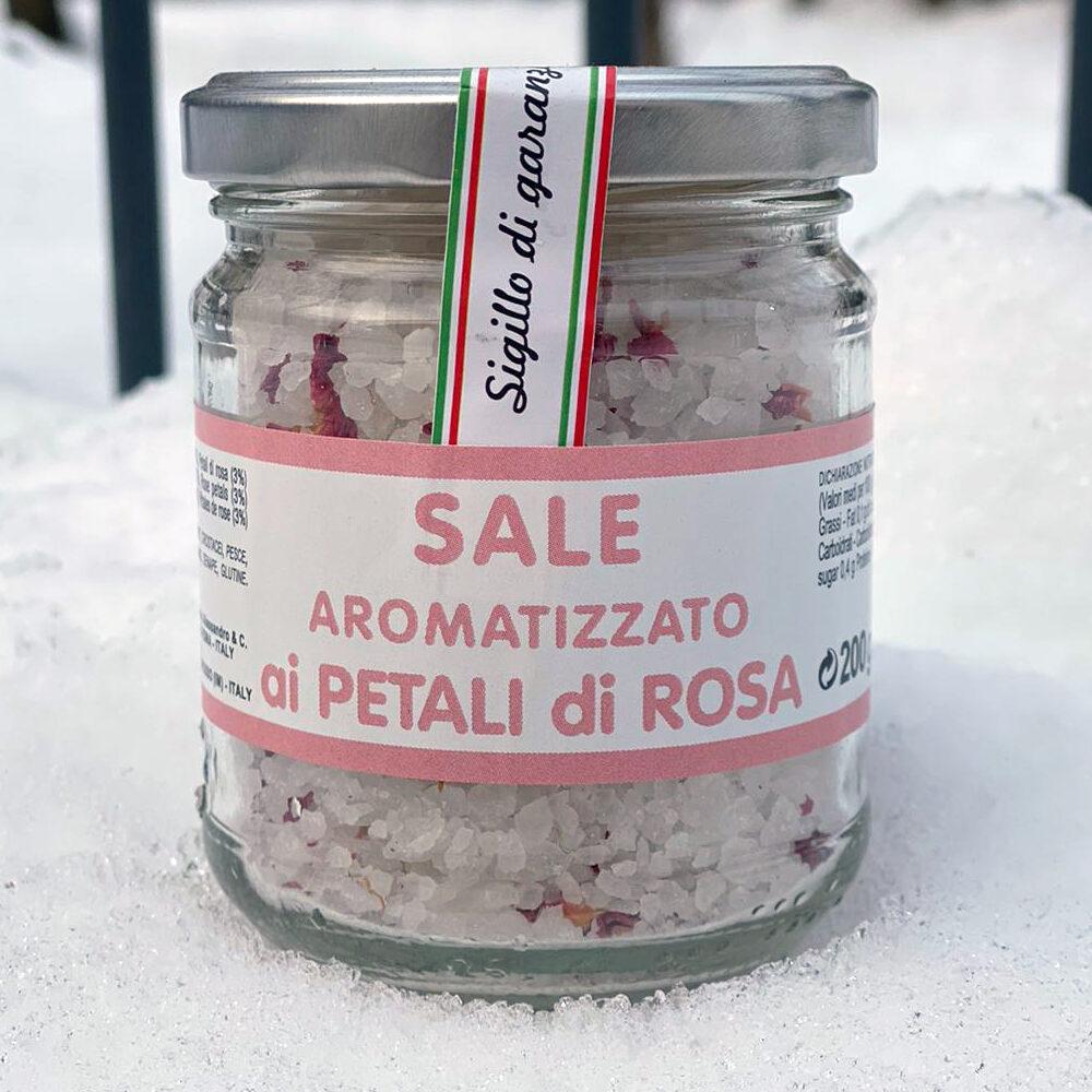 Sale aromatizzato ai petali di Rosa