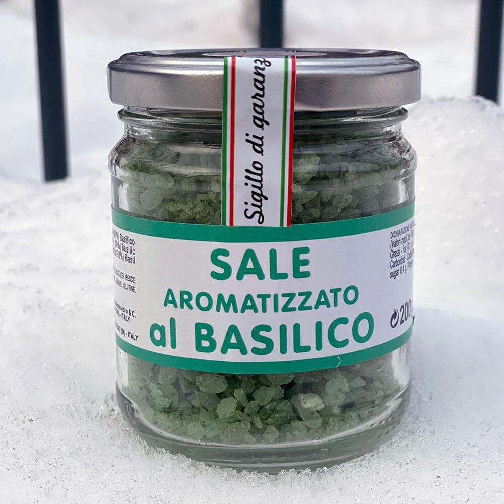 Sale aromatizzato al Basilico